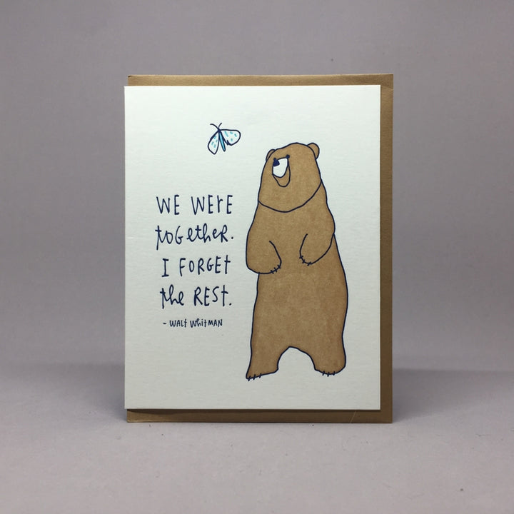 We were together Bear Card - BW1