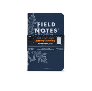 Field Notes Snowy Evening 3 Pack Memo Books