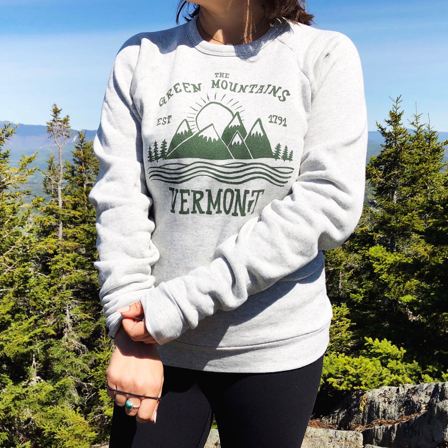 Green Mountains Vermont Crew Neck Sweatshirt