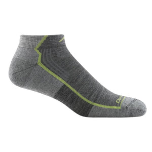 Men's Merino Wool Hiker No Show Socks Gray
