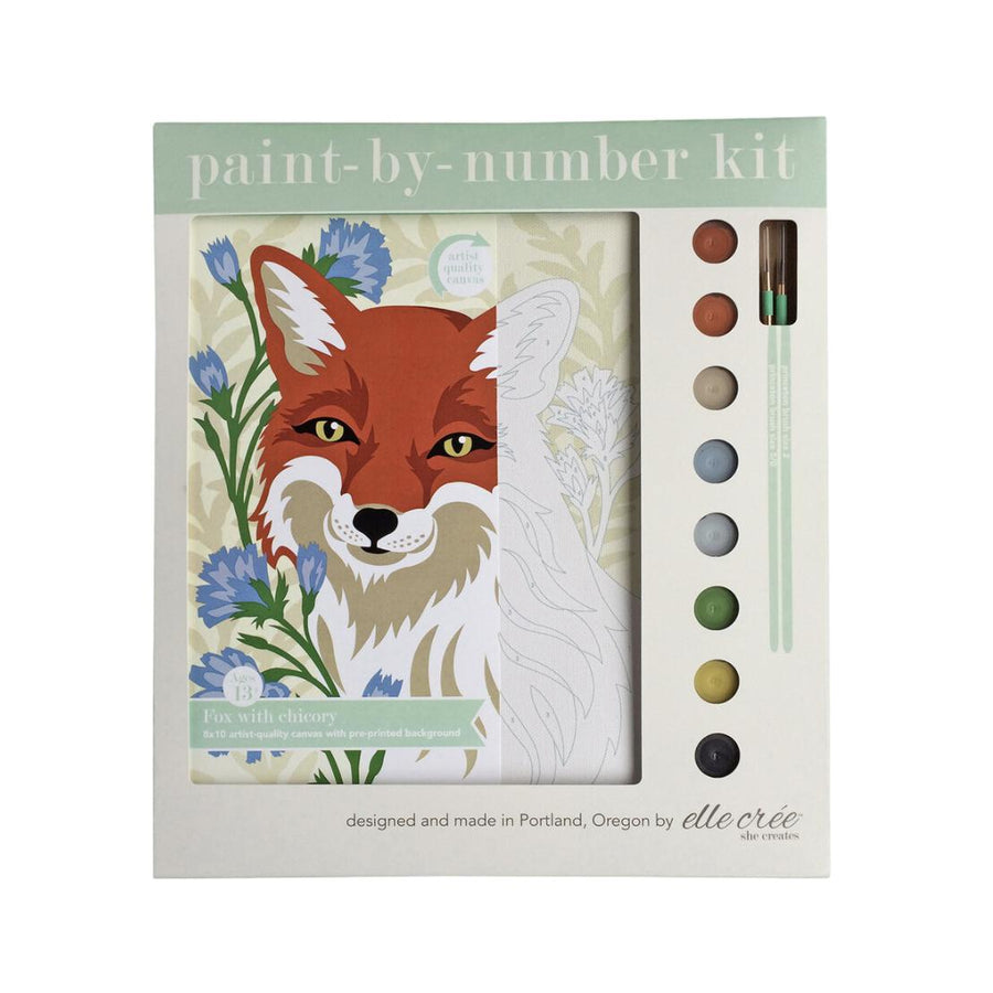 Paint By Numbers Kit - Fox with Chicory