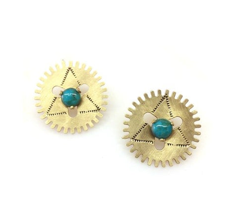 Windmill Turquoise Earrings