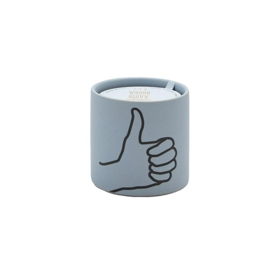 Thumbs Up Ceramic Candle - Blue Mint Cardamom