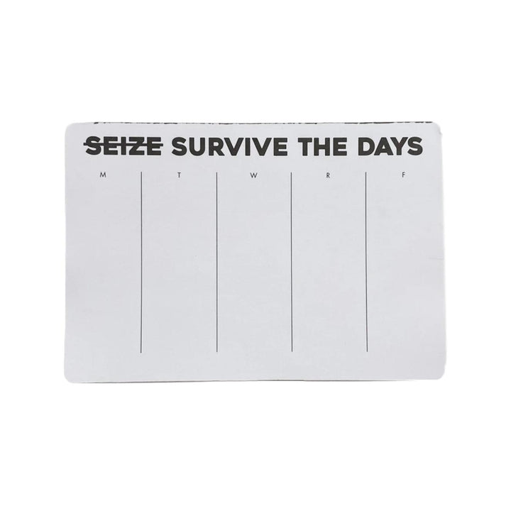 Seize/Survive the Day Weekly Deskpad
