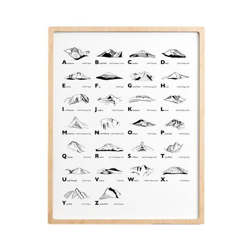 The Mountain Alphabet Print 11x14