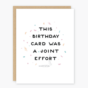 Joint Effort Birthday Card - PO6
