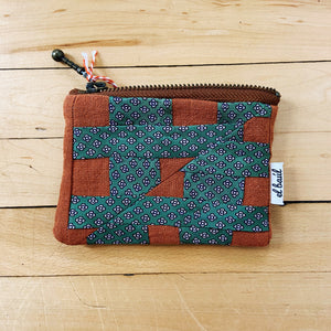 El Baul Hand-Dyed Small Quilted Clutch - Browns & Greens