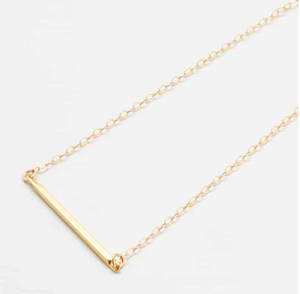 Gold Bar Pendant Necklace