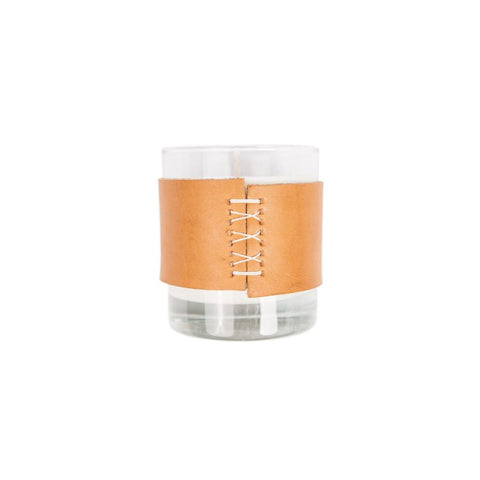 Leather Wrapped Home Candle