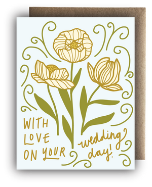 With Love On Your Wedding Day Blooms Card - MR4
