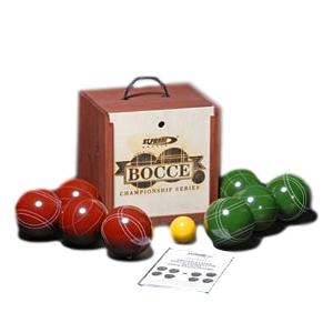 American Made Bocce Set with Mahogany Case