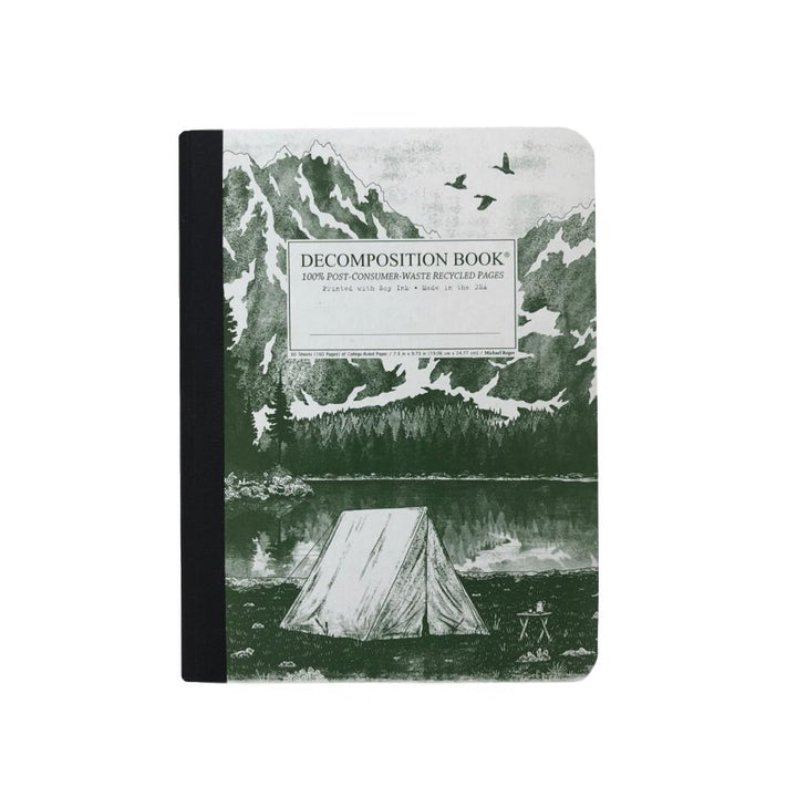 Decomposition Lined Notebook - Mountain Lake