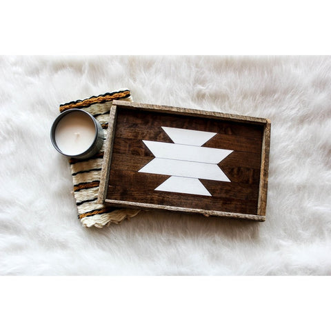 Reclaimed Wood Serving Tray - White 12 x 8