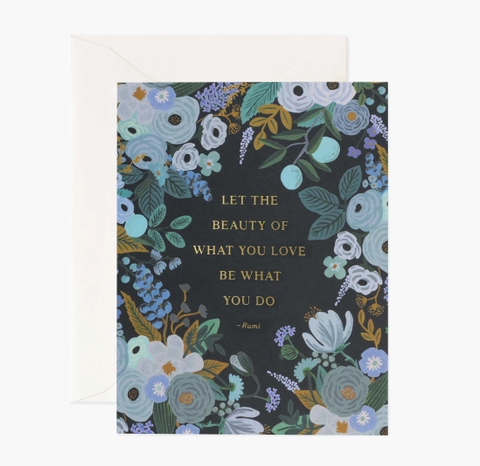 Rumi Quote With flowers card - RP2