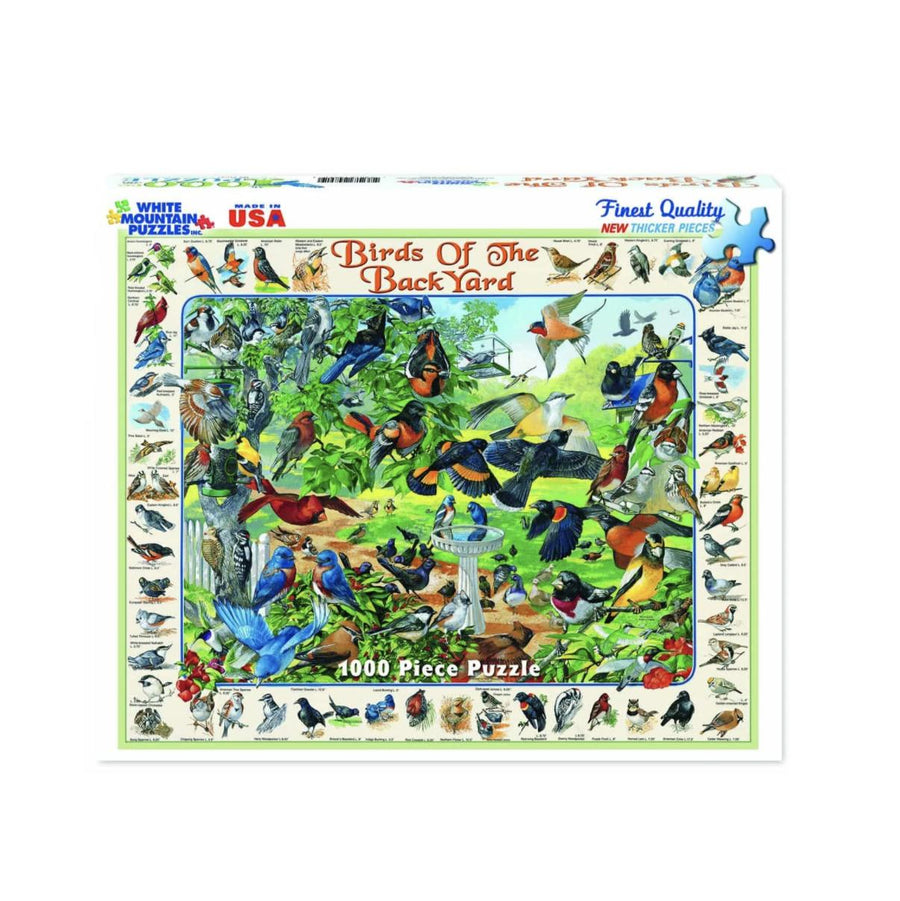 Birds of the Backyard 1000 Piece Puzzle