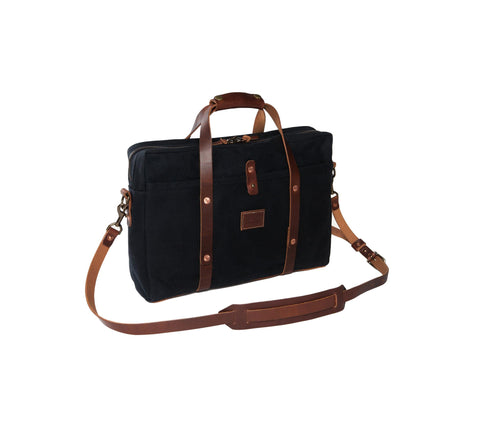 Courier Briefcase in Black
