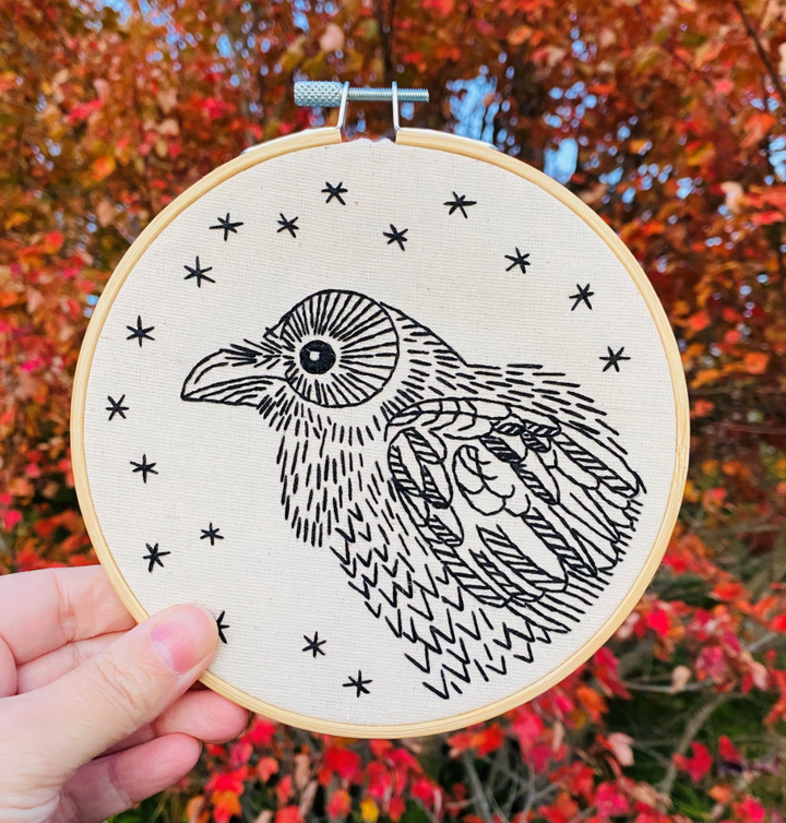 Nevermore Complete Embroidery Kit