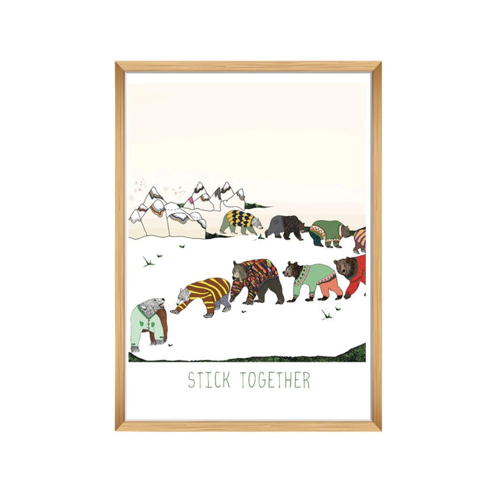 Stick Together Bears Print - 12x18