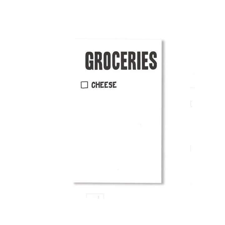 Groceries / Cheese Notepad
