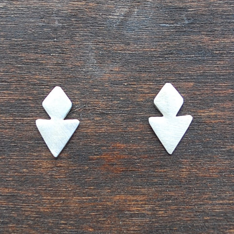 Hourglass Studs in Silver