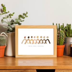 Standing Together Art Print - 9 x 12