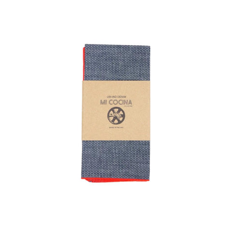 Dobby Merrow Edge Denim Napkins