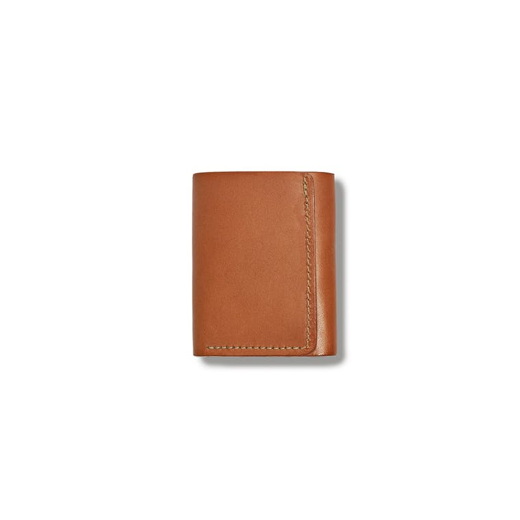 Filson Bridle Leather Tri-Fold Wallet in Tan