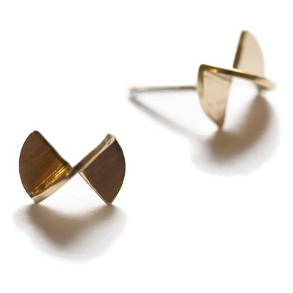 Twisted Disc Brass Studs
