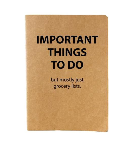 Important Things Journal
