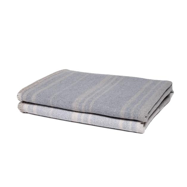 Woven Eco-Throw Tri-Panel Neutral Stripe