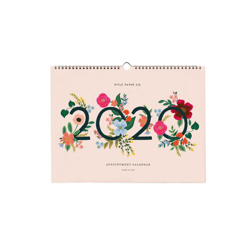 2020 Wild Rose Appointment Wall Calendar