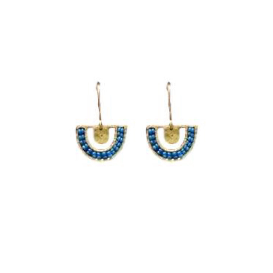 Beaded Azure Chalice Earrings