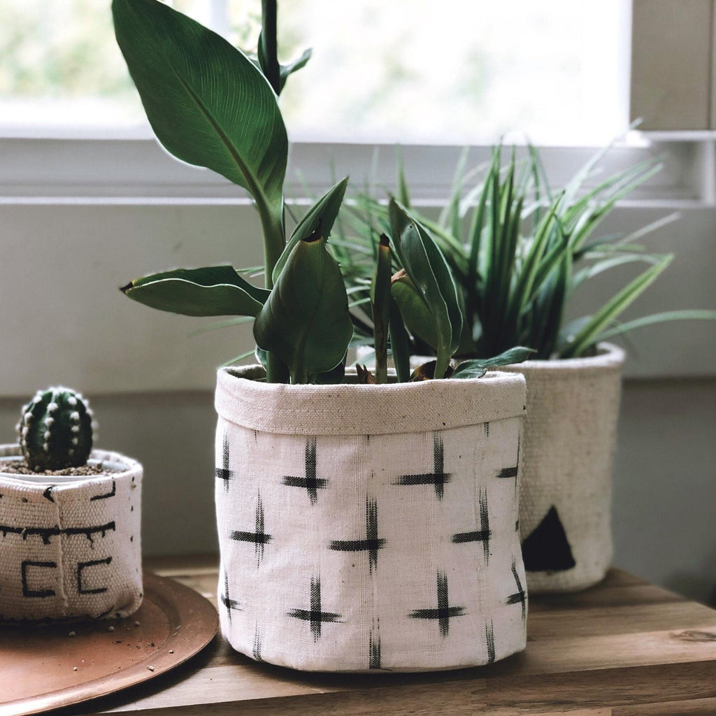 Mud Cloth Planters