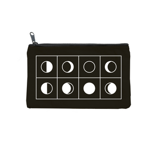 Moon Phases Zippered Pouch