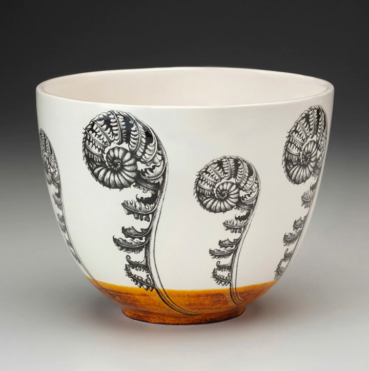 Laura Zindel Medium Bowl - Coiled Wood Fern