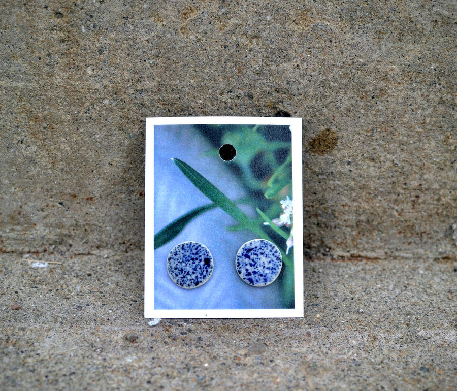 Adler Ceramics Small Blue Stud Earrings