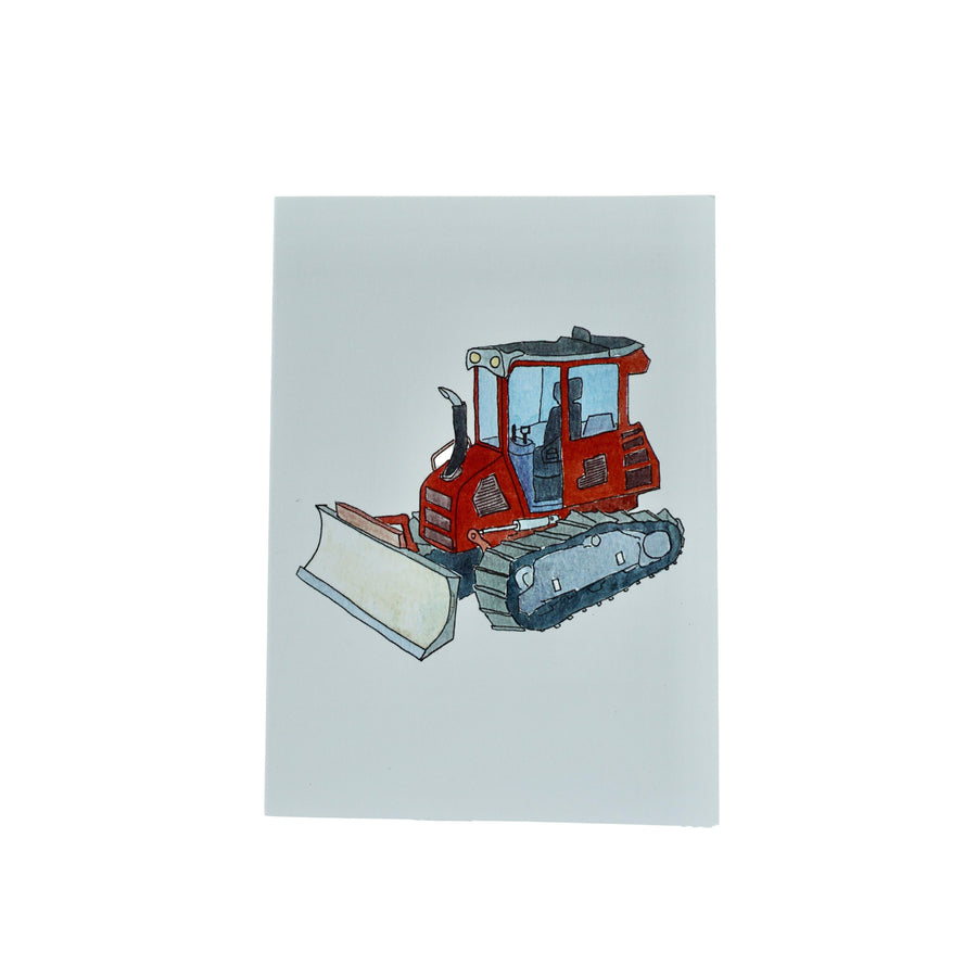 Lydia Red Tractor Greeting Card