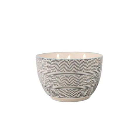 Soy Wax Candle in Handpainted Ceramic Bowl - 12.5oz