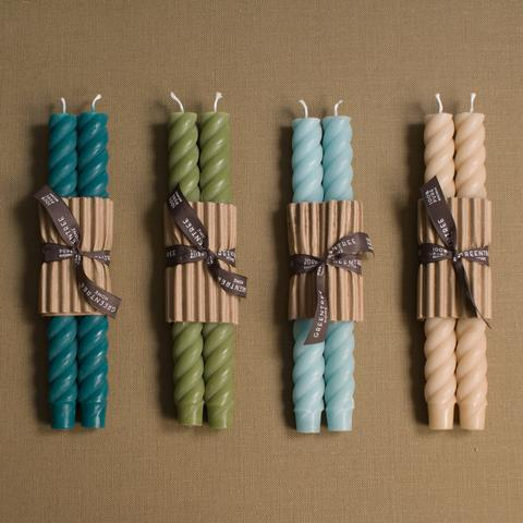 Beeswax Rope Taper Candles