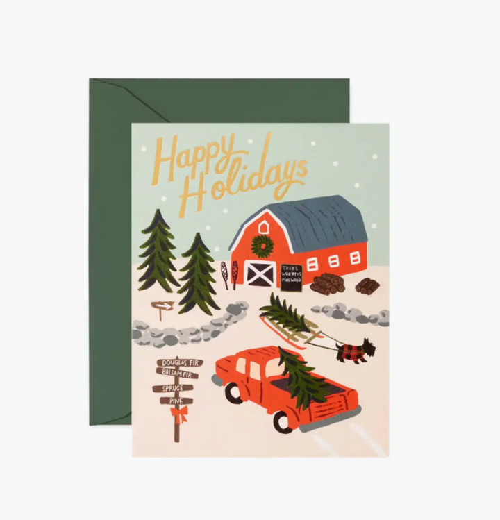 Holiday Tree Farm Boxed Set of 8 Cards