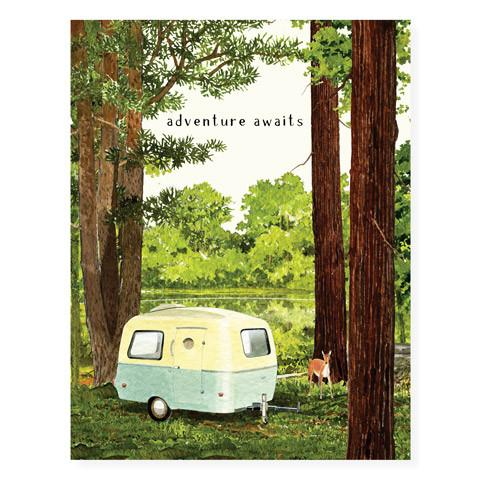 Adventure Awaits Camper Card - FD4