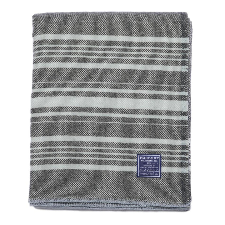 Faribault Weekender Stripe Throw Charcoal