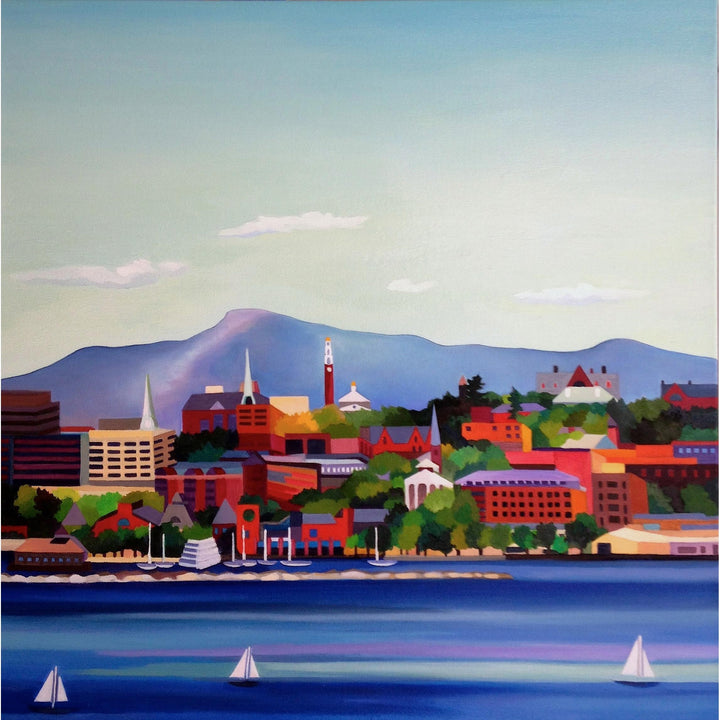 "This is Vermont Print Series 3 - ""Burlington Summer"" 20 x 20"