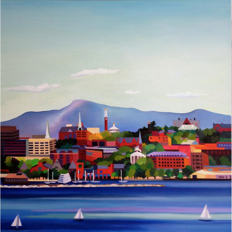 """This is Vermont"" Print Series- Burlington Summer 20 x 20"