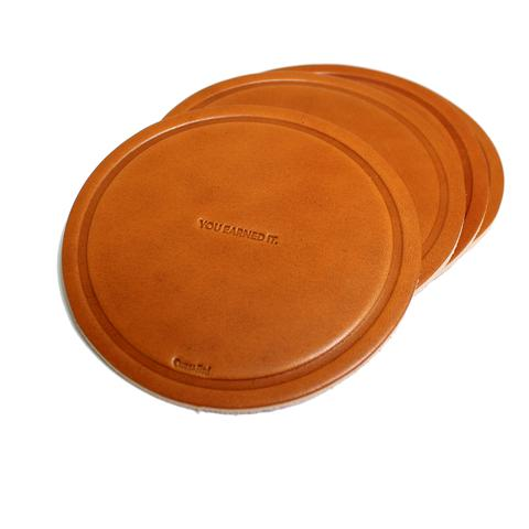 You Earned It Leather Coasters