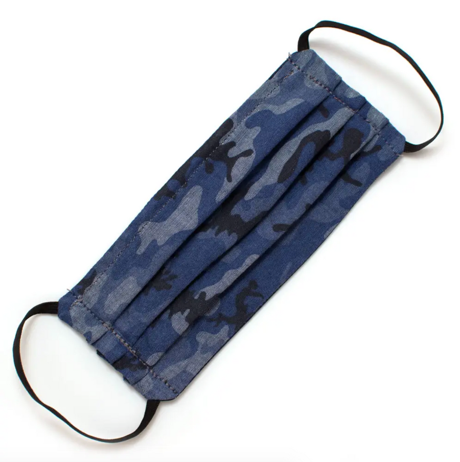 Face Mask with Elastic - Chambray Camo
