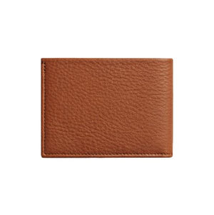 Slim Bifold Leather Wallet - Bourbon