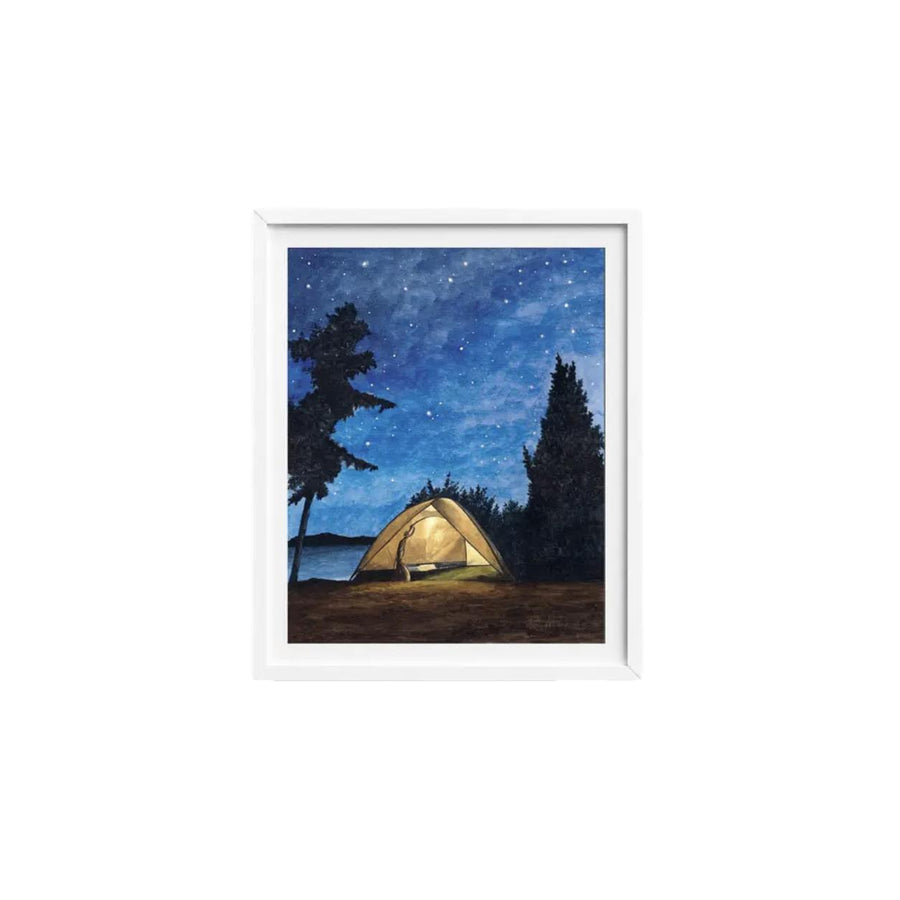 """Starry Night Weekend"" Watercolor Art Print - 8x10"