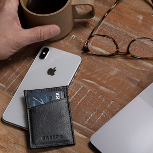 Minimalist Leather Wallet - Black