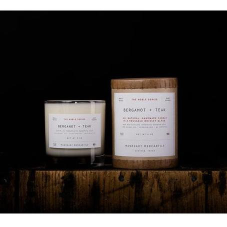 Whiskey Glass Soy Candle